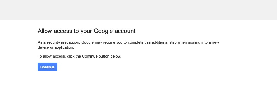 Google Account Less secure app