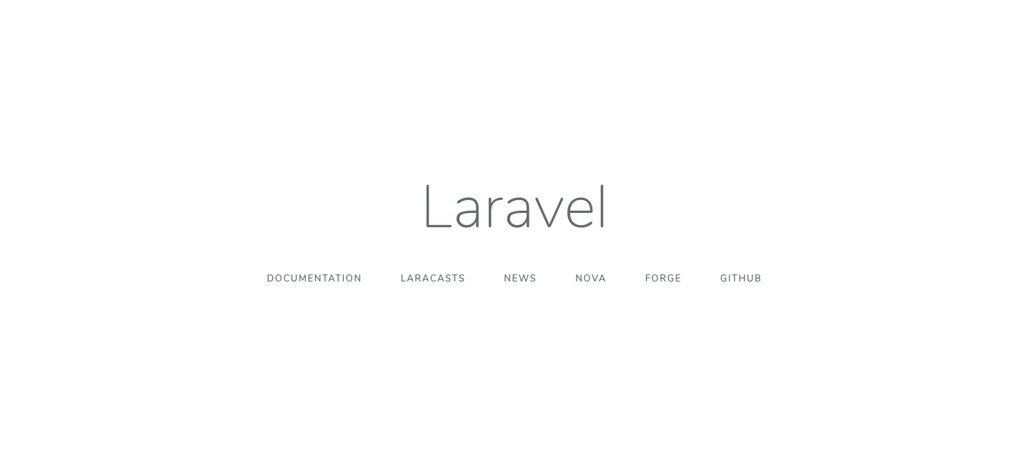 laravel first page
