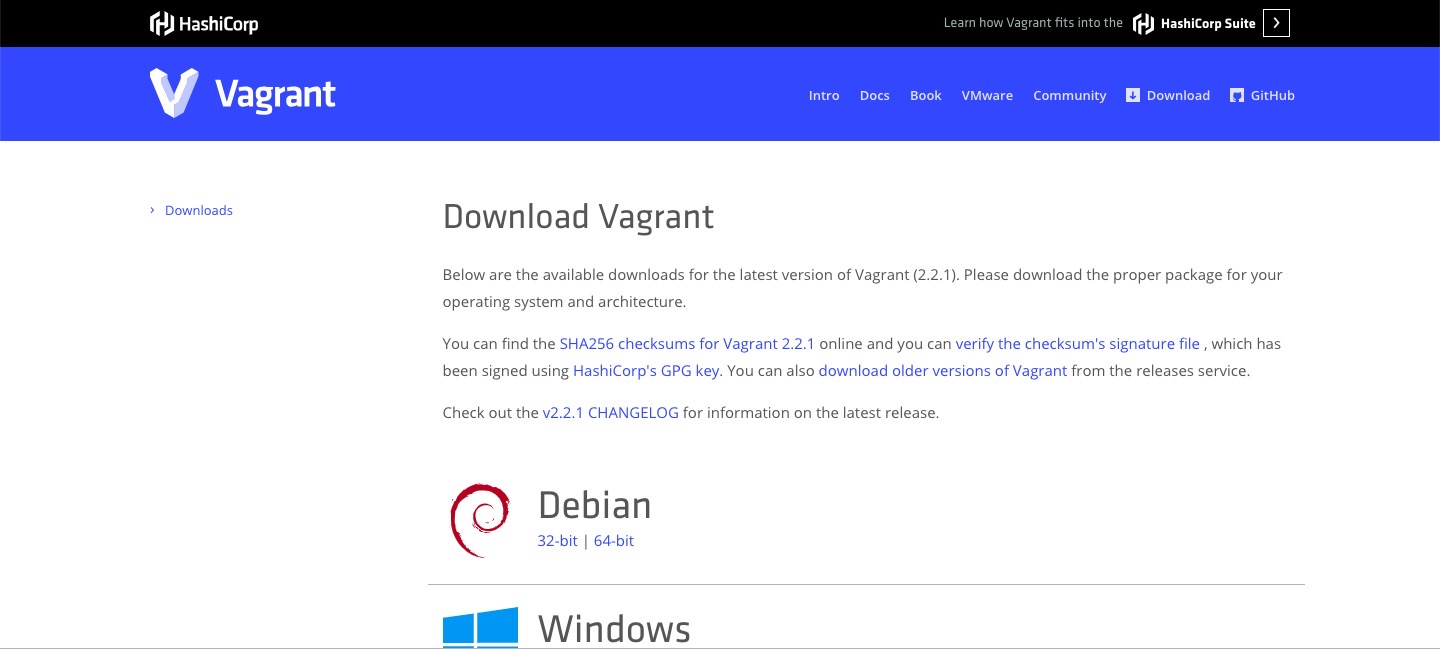 vagrant download site