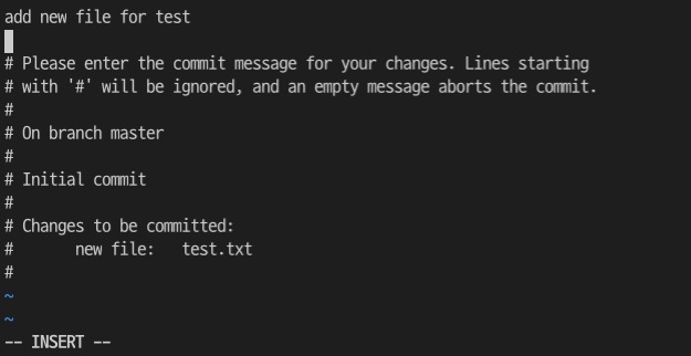 git commit with message