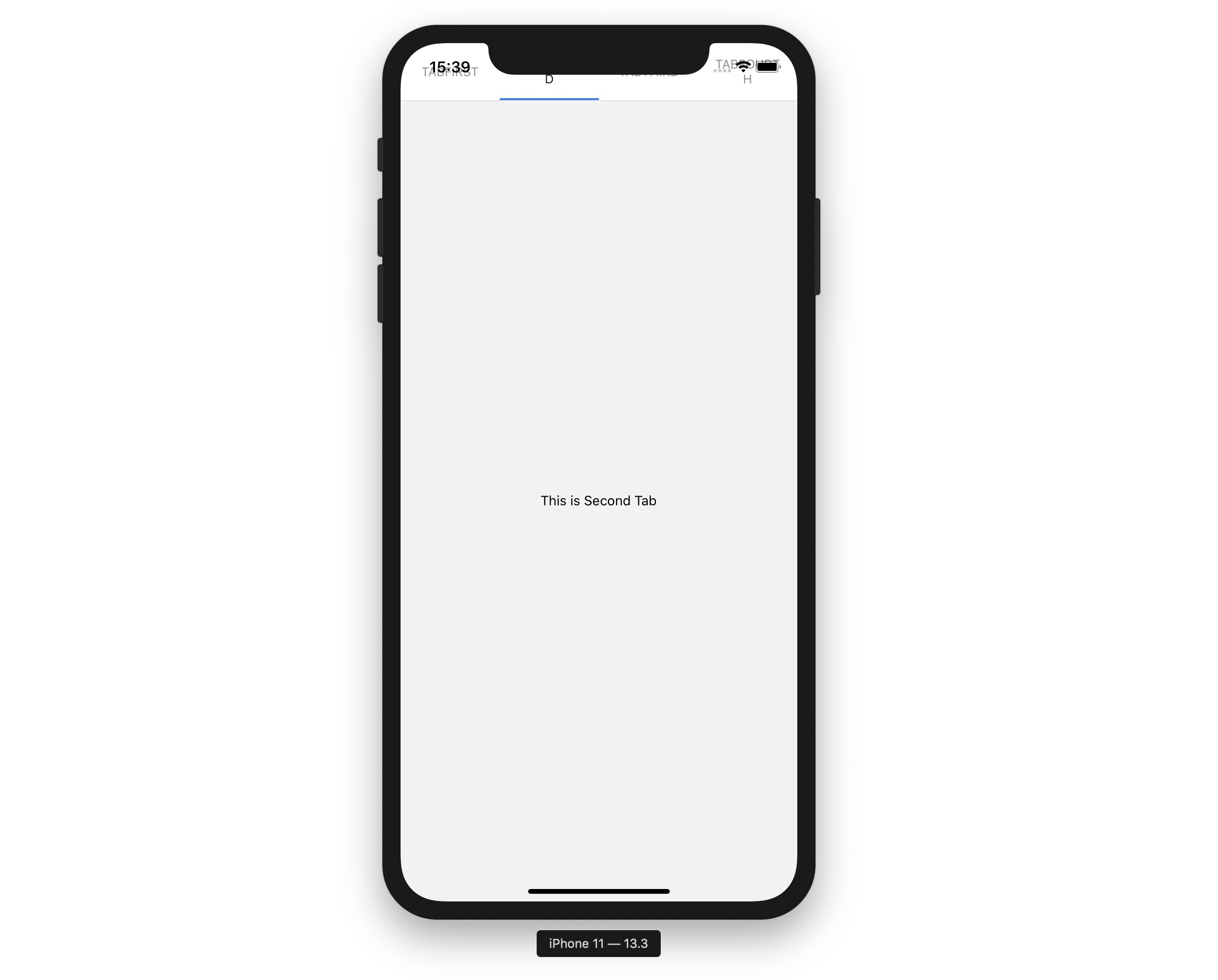 material top navigation issue in notch design