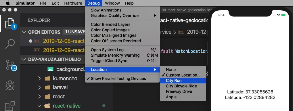 react-native-geolocation-service tracking user location