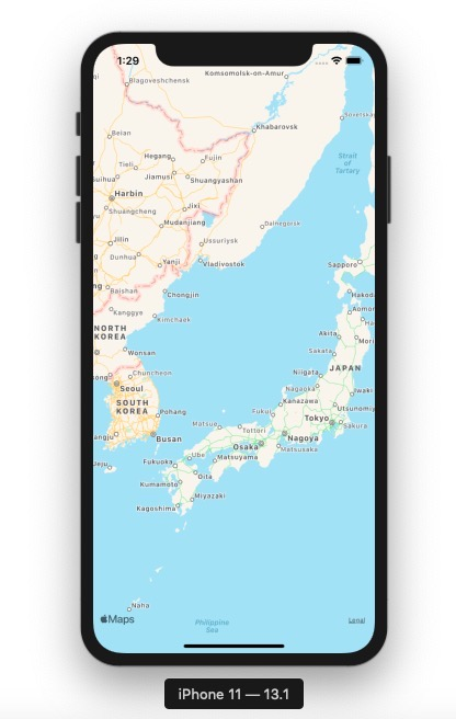 on React Native, display a map by react-native-maps - Apple map