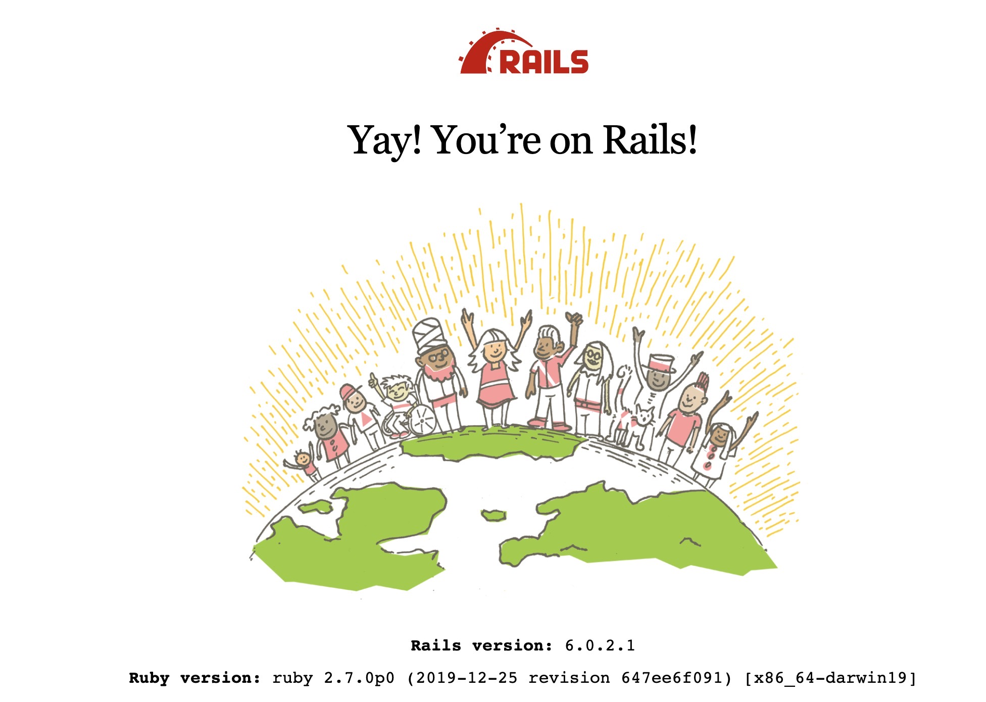 Ruby on Rails result of running the server